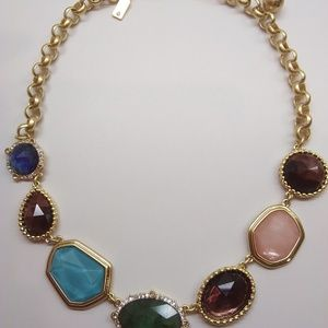 Kate Spade New Amethyst, Blue, and Green Necklace